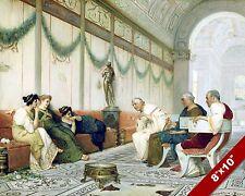 YOUNG ROMAN WOMEN & POLITICIANS ANCIENT ROME PAINTING HISTORY ART CANVAS PRINT