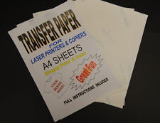 50x A4 Laser & Copier T Shirt Thermal Transfer Paper Sheets For Light Fabrics