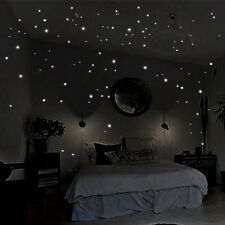 2 Sheets Glow in the Dark Star Wall Stickers Round Dot Luminous Home Decor