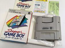 Nintendo Super Gameboy Player Super Famicom Game Cartridge JAPAN JP SNES Boxed