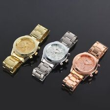 New Fashion Ladies Women Girl Unisex Stainless Steel Quartz Wrist Watch