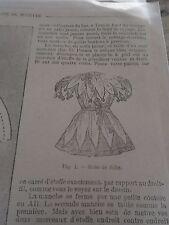 """PATRON ORIGINAL POUR LA POUPEE """" BLEUETTE """"COSTUME DE FOLIE  FEVRIER 1907"""