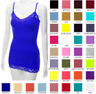 Bozzolo Women's Lace Tank Top Basic Camisole Adjustable Spaghetti Strap Tunic
