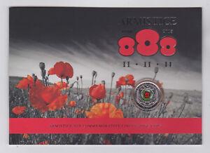 New Zealand  - ARMISTICE - 2018 50c Coloured Coin - UNC in Commemorative Folder