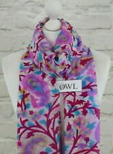 100% PURE SILK SCARF Indian Silk Ladies Multi Paisley Floral Scarves Gifts UK