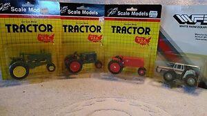 4 Scale Models Tractor's 1 John Deere, 1 Oliver 80, 1 Cockshutt,& 1 White 4-270