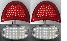 Pair 1957 57 Chevy LED Tail Light & Reverse Lenses Kit 150 210 Belair