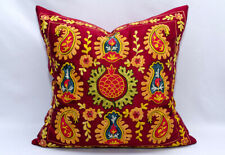 Pomegranate Suzani Fully Silk handmade Embroidery Suzani pillow cover Uzbek silk