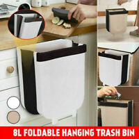 Kitchen Cabinet Door Hanging Trash Cans Wall Mounted Waste Bin Cabinet Folding