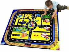 Kids Giant City Playmat Floor Play Mat for Toy Cars Road Railway Train Track New