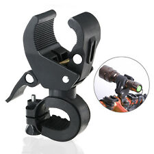 90° Flashlight Torch Rotating Bike Bicycle Handlebar Mount Clamp Clip Holder
