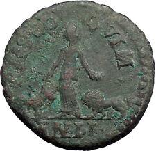 GORDIAN III Viminacium 240AD Bull Lion Legion RARE Ancient Roman Coin i48641
