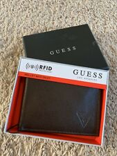 Guess Wallet Men's G. Leather Credit Card Id Passcase Brown NEW with Box