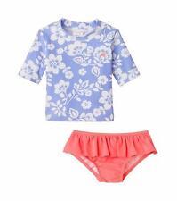 CARTER'S Baby Girls' 12M Hawaiian Floral Print 2 Pc. Rashguard Swim Set NWT