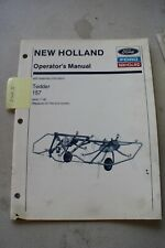 New Holland 157 Hay Tedder Operators Manual With Assembly Instructions 1990