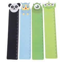 Straight Ruler School Supplies Animal Plastic Bendable Ruler Measuring Ru JzJCA