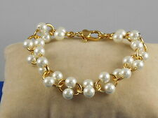 Kate Spade Gold Plated Nouveau Pearls Faux Pearl Link Bracelet Wbruh618