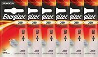 6 Energizer 389 SR1130W AG10 LR1130 V389 D389 Silver Oxide Batteries