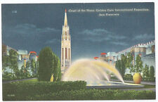 Postcard - 1939 Golden Gate Int'l Expo/GGIE - Court of the Moon - Night Scene