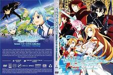 DVD Sword Art Online Season 1 & 2 + 2 OVA  with English subtitles