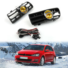 Pair Yellow Front Grille Fog Light Lamp Lower Grill For VW Golf MK4 GTI/TDI C/A5