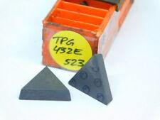 8pcs Tpg 432e Grade 523 Carbide Inserts New Surplus Carboloy