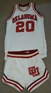 Vtg Oklahoma Sooners 1977-78 Game Worn Basketball Uniform Jersey + Shorts