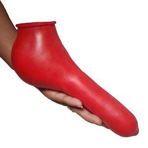 Latex Hoden Kondom aus Rubber in rot, Einheitsgröße