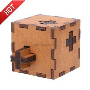Puzzle Box IMPOSSIBLE Teaser Brain Secret Box Toy IQ Test Level 10 Wooden 2020