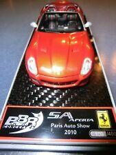 BBR C49A Ferrari SA Aperta Paris Auto Show 2010 Rosso Fuoco  1:43