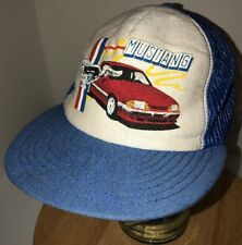 Vintage FORD MUSTANG 80s USA Screen Stars Best Trucker Hat Cap Snapback FOXBODY