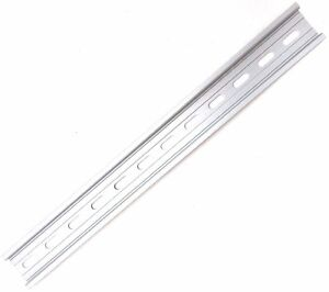 "1 Piece DIN Rail Slotted Aluminum RoHS 12"" Inches Long 35mm 7.5mm T&G"