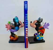 ROMERO BRITTO DISNEY MICKEY& MINNIE KISSING BOOKENDS / FIGURINE NUMBERED LIMITED