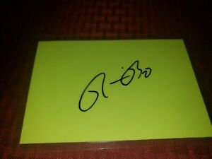 RONNIE BROWN SIGNED AUTOGRAPHED 4x6 INDEX CARD CHARGERS DOLPHINS