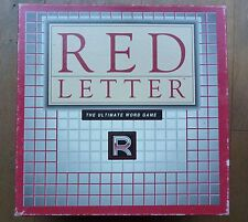 Rare RED LETTER Vintage 1989 CROSSWORD WORD Strategy Board Game