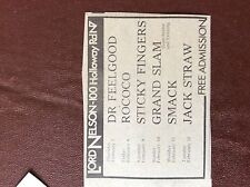 B1M ephemera 1974 concert advert small lord nelson dr feelgood grand slam rococo