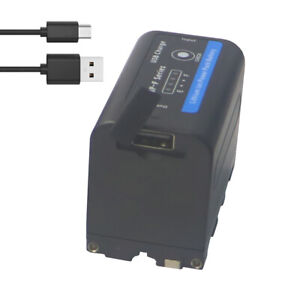 USB input charge NP F750 NP F770 Battery for Sony NP F970 F960 F550 F570 LED