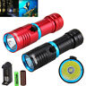 Waterproof 15000LM XML T6 LED Diving Scuba Flashlight Underwater Torch Charger