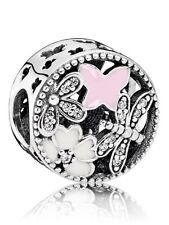 RETIRED PANDORA! NEW Springtime Enamel & CZ Sterling Silver Charm RRP $69