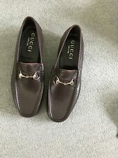 Mens Gucci brown leather, Horsebit loafers , UK 8 -EU 42