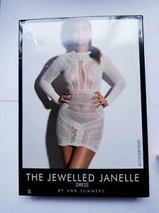 Ann Summers Jewelled Janelle Dress Cream S 8-10 lingerie, Sexy  Dress Up New