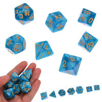 7pcs/Set Acrylic Polyhedral Dice D4-D20 For DND MTG RPG Board Game Supply Dice