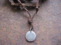Surferkette Halskette Leder braun Herren Damen neu Kette Lederhalskette Amulett