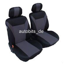 2 grau schwarze Sitzbezug Sitzbezüge Schonbezüge