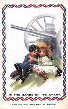 POSTCARD   COMIC  WWI   CHILDREN  ENGLISH ARTILLERY  Hands   of  the Enemy