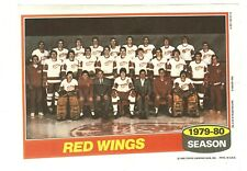 1980-81 Topps Hockey Team Photo Mini Poster Pinup Detroit Redwings Mint