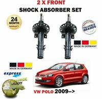 FOR VW POLO 1.2 1.4 1.6 TSI GTI TDI 2009-> 2X FRONT SHOCK ABSORBER SHOCKER SET