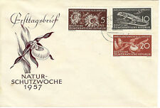 Germany (DDR) FDC 1957 Mi 561-563 Nature Conservation
