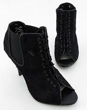 High Heels Akira Stiletto Textil Schürverschluss Peep Toe Gr. 37