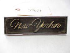 Vintage New Yorker Script Emblem Badge OEM 2657252